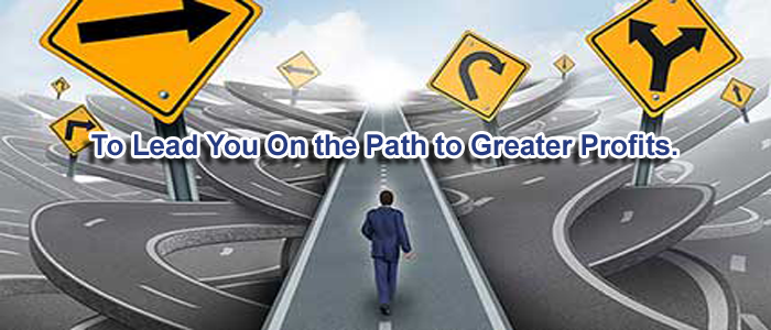 To lead you on the path to greater profits.